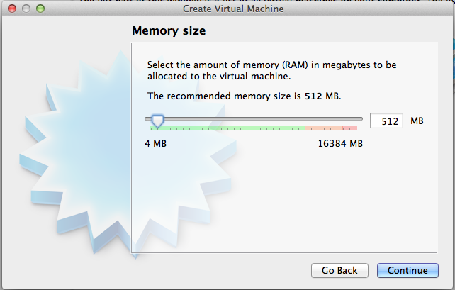 VirtualBox recommends 512MB for a 64-bit Windows 7 VM, about a quarter of the amount Microsoft recommends.