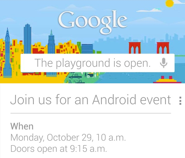 Google's October 29 Android event: