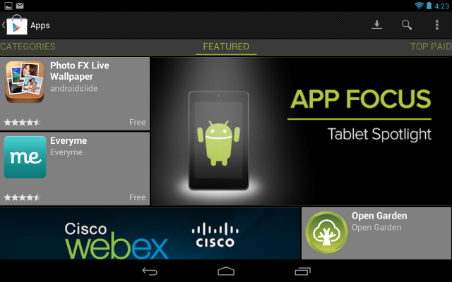 Google is still fighting to encourage the development of tablet-centric Android apps.