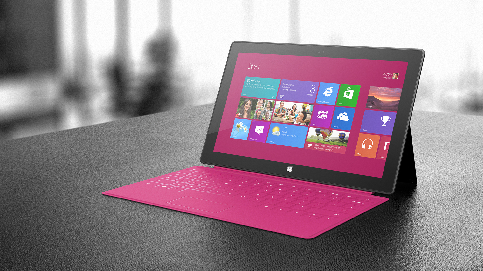 Magenta is obviously the best keyboard color for the Surface.