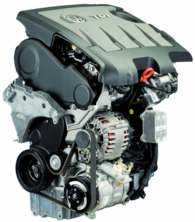 A VW TDI engine.