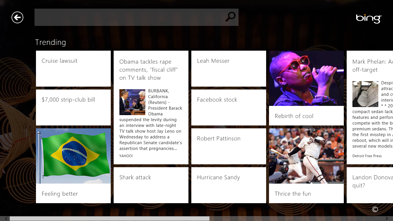 Trending: Review: Bing Apps Are Fast, Slick, And Responsive