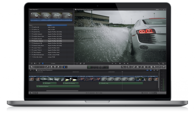 Final Cut Pro X update adds multichannel audio, RED camera support