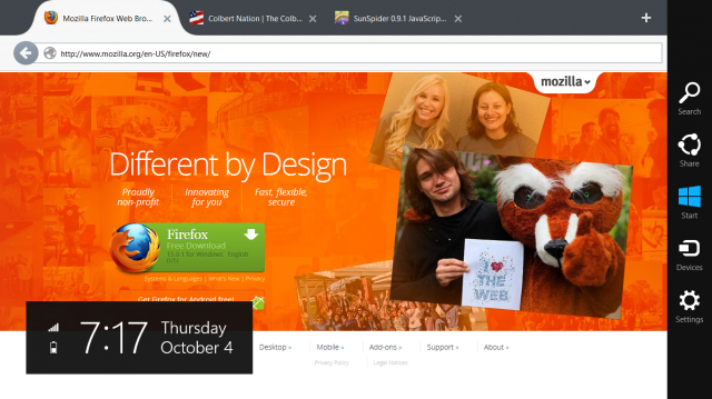 Meet the new Firefox, more Metro-y than the old Firefox.