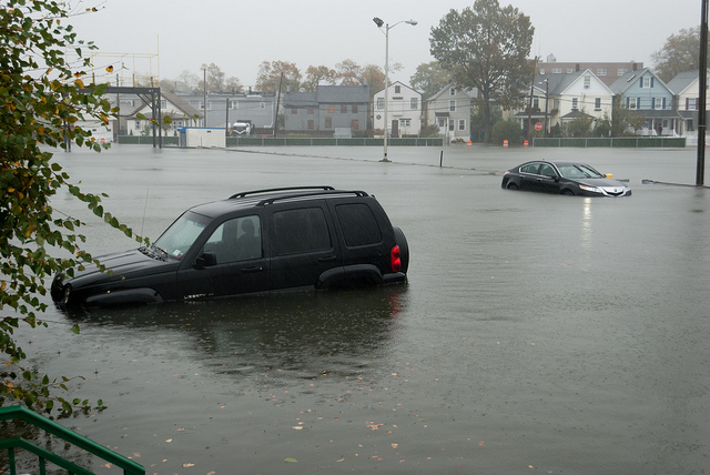 Flooding from Hurricane Sandy.