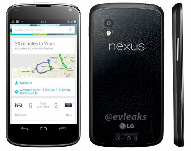 The chassis on the LG Nexus may look a little different from its handset cousin, the LG Optimus G.