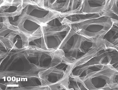 The fast and the flexible: Graphene foam batteries charge quickly