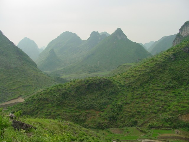 These mountains in China preserve the ocean floor of the Permian-Triassic period.