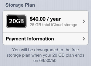 Former MobileMe subscribers getting free 20GB iCloud storage until 2050