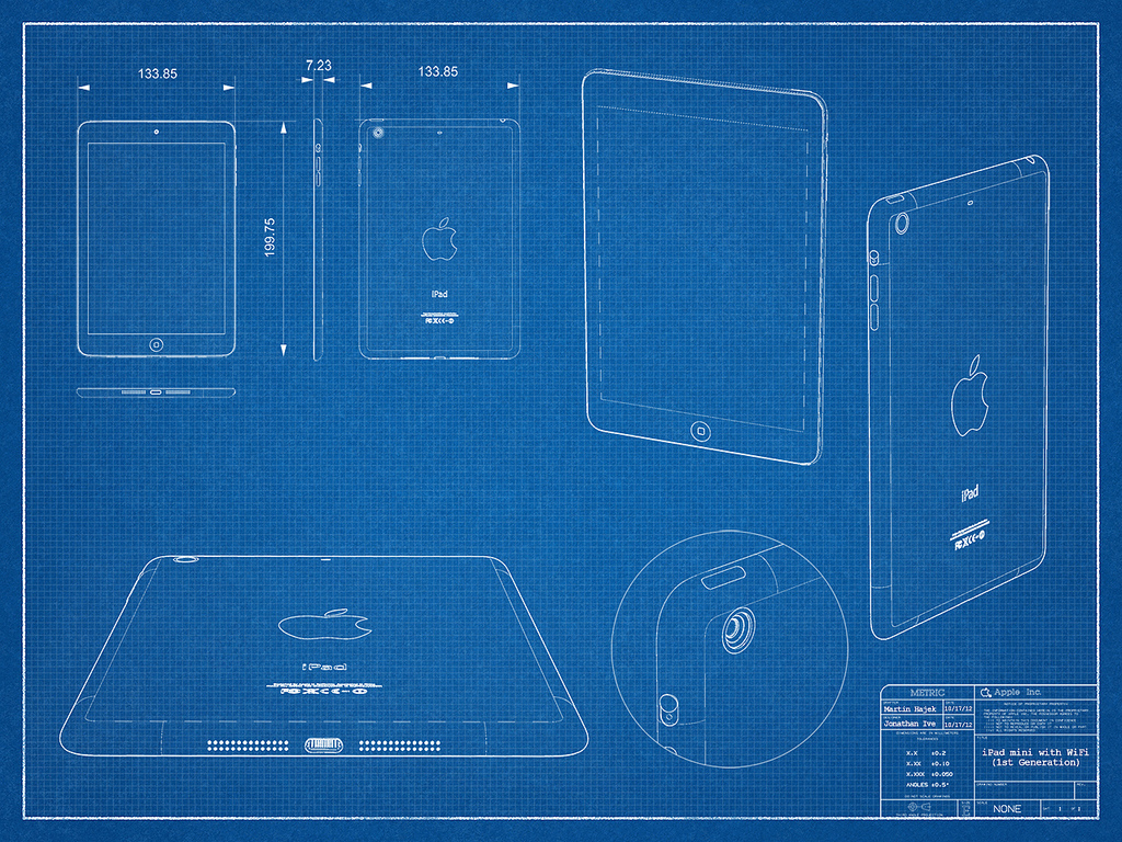 What we think we know about the ipad mini ars technica for Blueprint drawing software