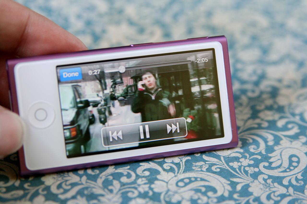 The video UI overlay is like a tiny iOS video app.
