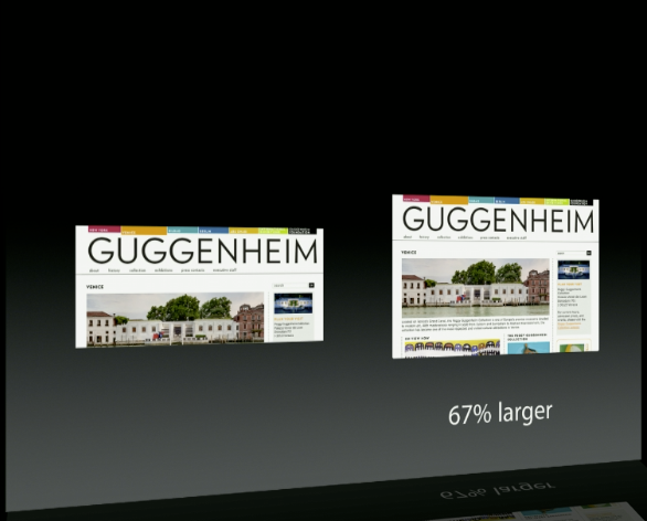 A comparison of the iPad mini's screen with that of a smaller 7-inch Android tablet.