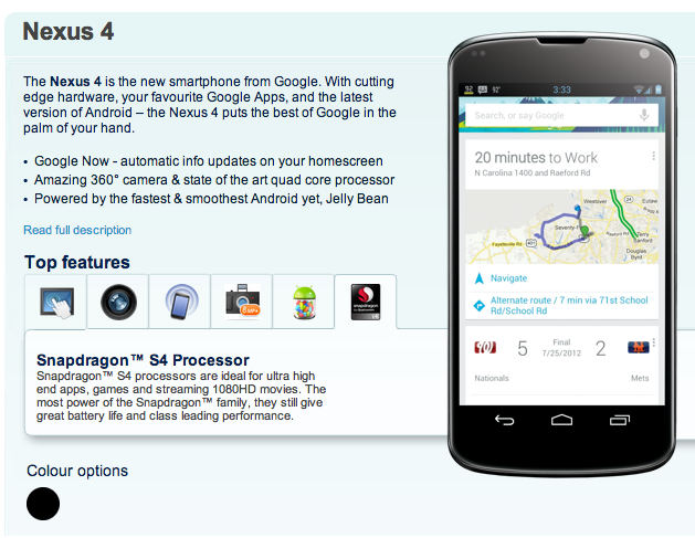 The new Nexus 4 has been outed just days before Google's Android event.