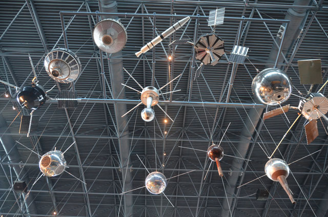 Steven F. Udvar-Hazy Center: Space exhibit, models of early scientific satellites.