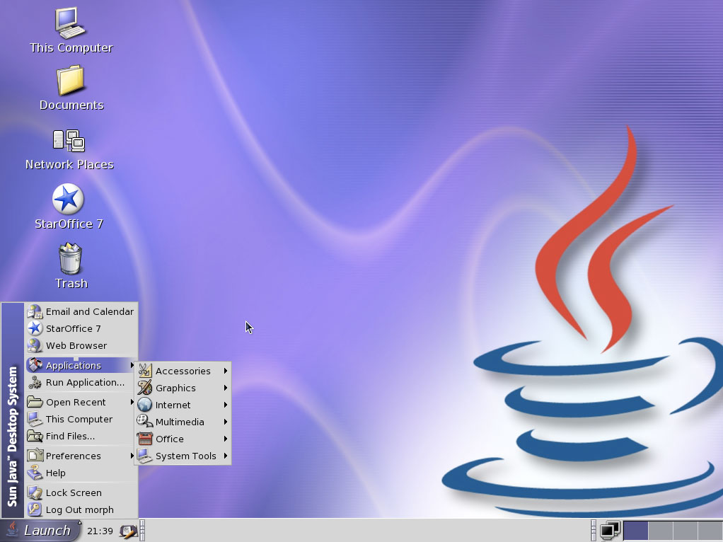 Java never had much success on the desktop