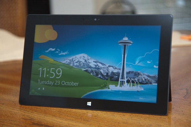 The Microsoft Surface with Windows RT.
