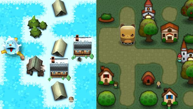 <i>Yeti Town</i> (left) is a bit too similar to <i>Triple Town</i> (right) from a legal standpoint, according to a recent ruling.