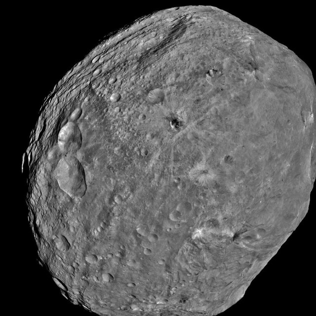 Despite its skewed appearance, Vesta seems to have many features in common with planets.