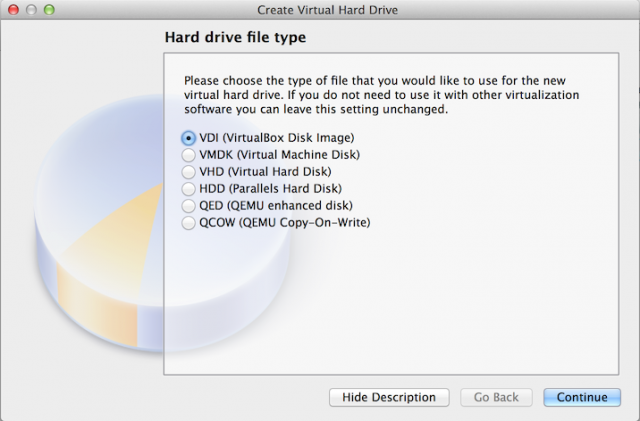 VirtualBox does support a wide variety of virtual hard drive formats...