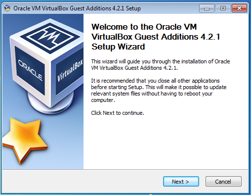The VirtualBox Guest Additions add mouse pointer integration, rudimentary 3D support, and other features to your guest operating system.