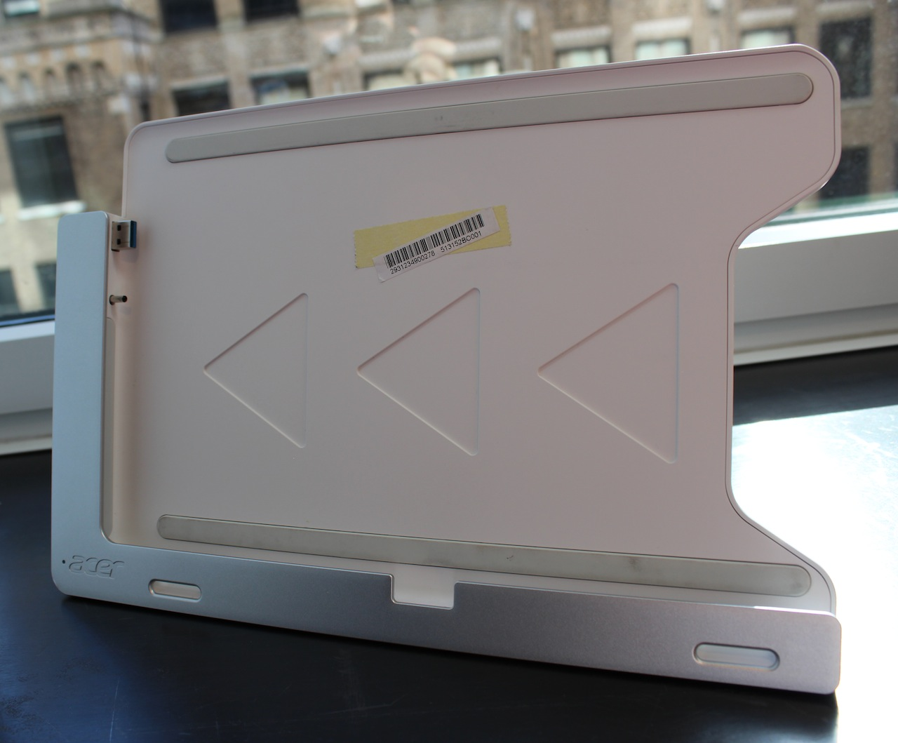 The W700's included cradle is ideal for kitchen counters or desks if you'd like to dock the tablet.