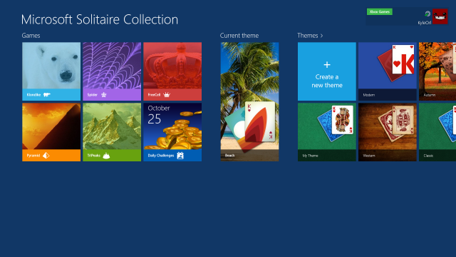 The new and updated games of Windows8