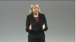 Meg Whitman, HP's CEO, describes the magnitude of previous leadership's screw-ups to analysts.