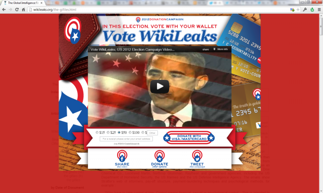 The WikiLeaks donation overlay.