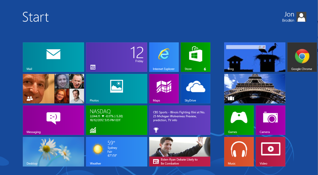 In Windows 8, this is where you start.