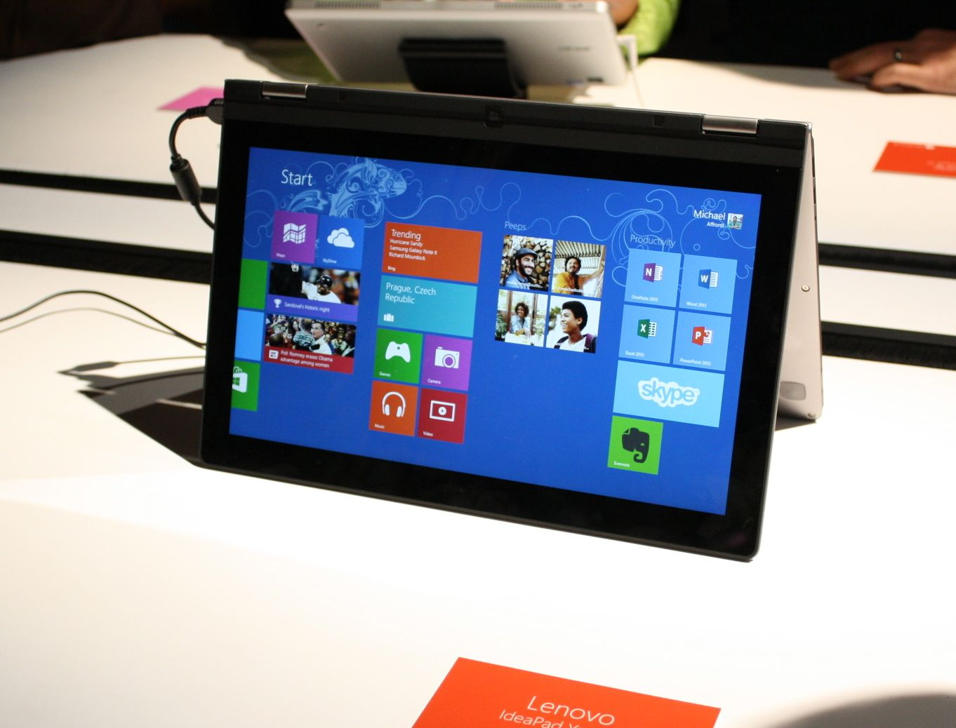 The Lenovo IdeaPad Yoga, which we first saw nearly a year ago, in its final form.
