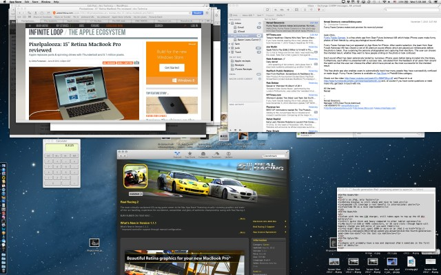 """Things get awfully small at the 13"""" Retina MacBook Pro's native resolution—there's a good reason Apple doesn't enable it directly via the Displays preference panel."""
