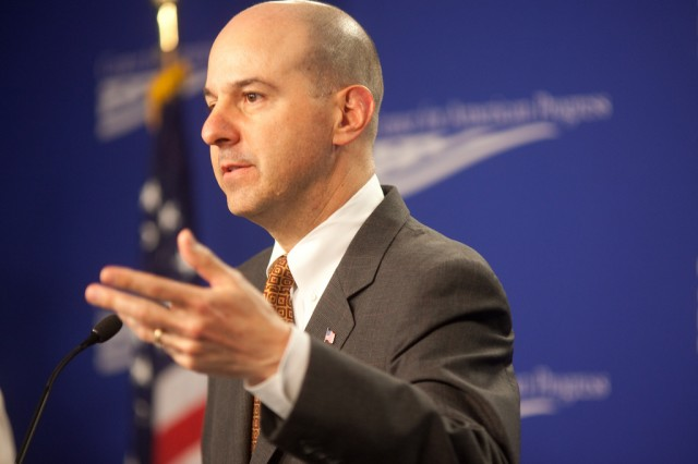 David Kappos speaks at the Center for American progress in 2010.
