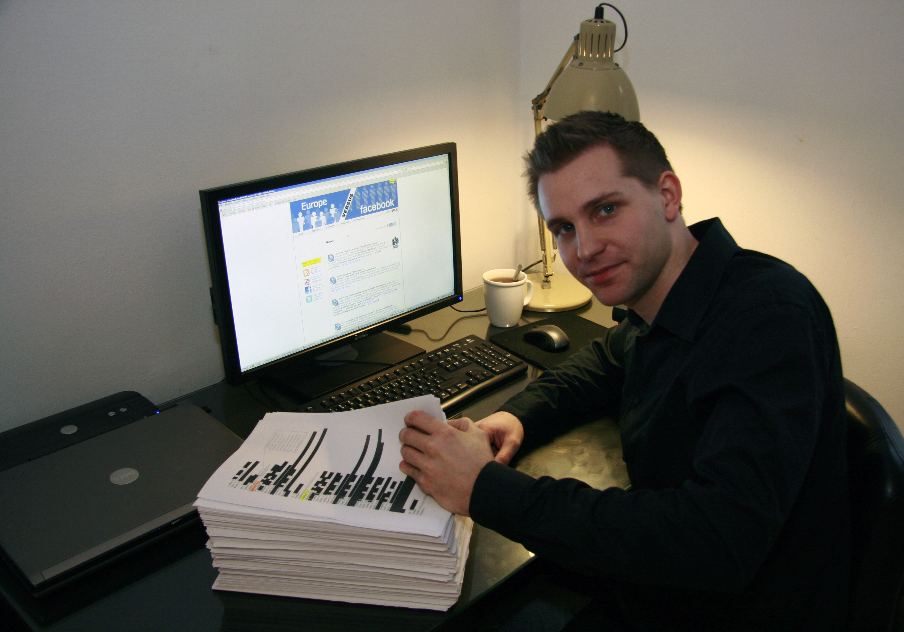 Max Schrems, 25, is leading a group called Europe vs. Facebook to force the social network to comply with EU data protection law.