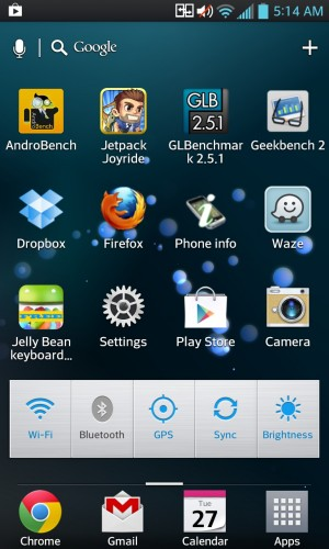 Android 4.0.4 on the LG Optimus G.