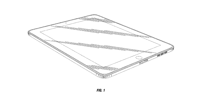 Apple's latest iPad-related design patent is literally for the rounded rectangular front outlined in solid black.