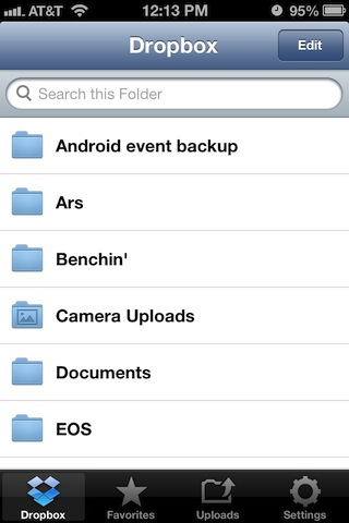 Dropbox for iPhone is just a small piece of the Dropbox for iPad app.