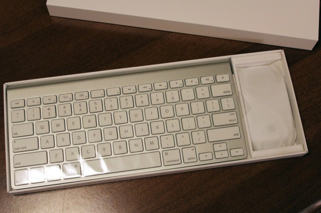 Same old wireless keyboard and Magic Mouse (or Magic Trackpad, if you prefer).