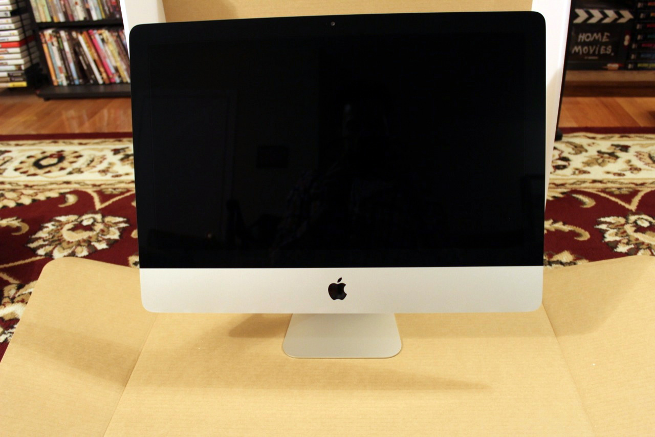 The iMac looks the same from the front, if you don't count the non-reflective screen.
