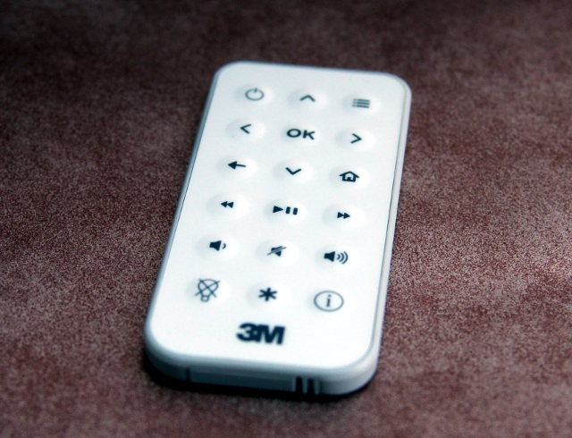 The remote is the only way to connect the projector to Wi-Fi or scroll through content.