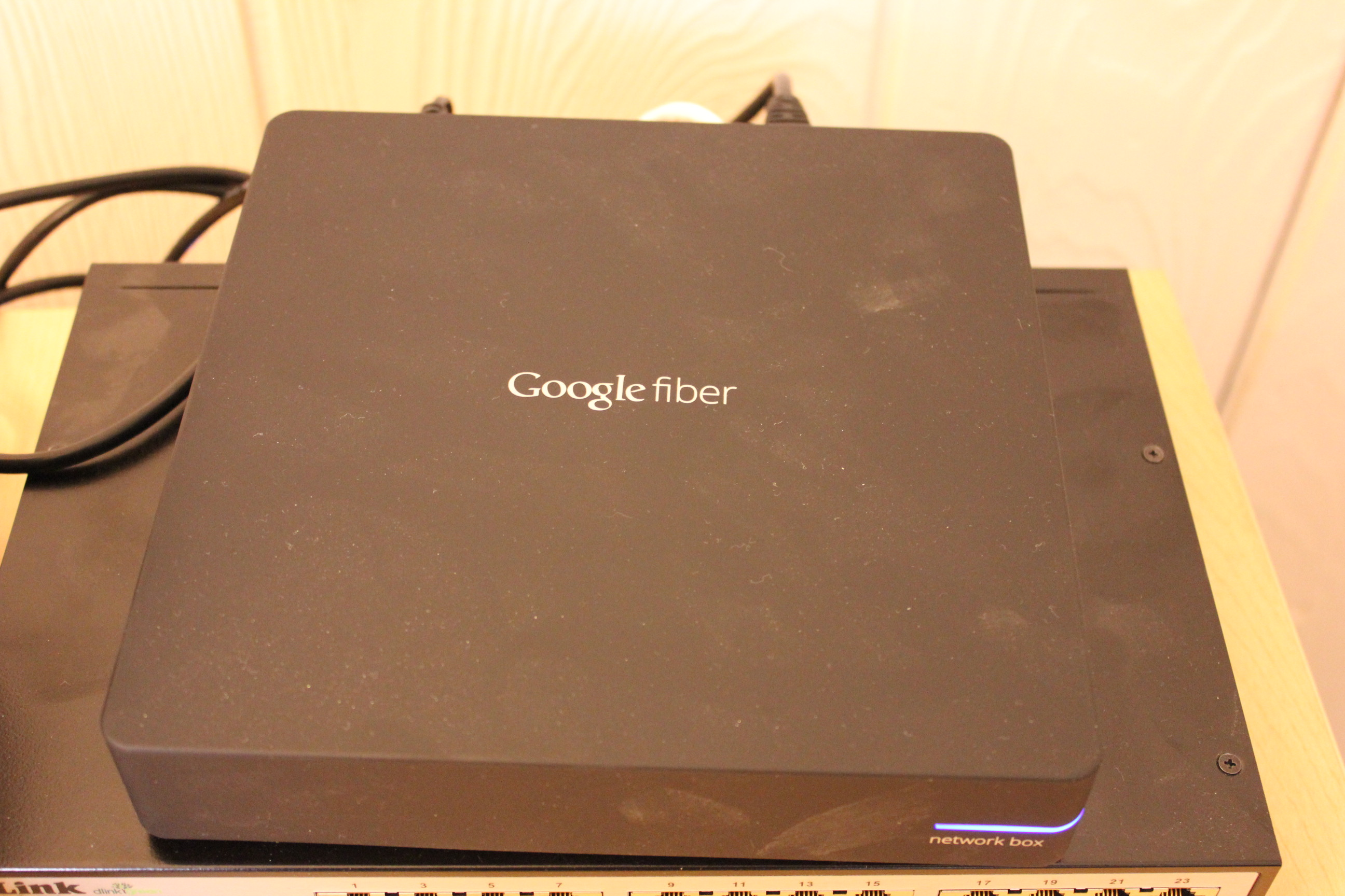 The Google fiber box, in all its glory.