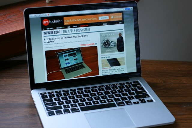 "Apple's 13"" Retina MacBook Pro visiting our favorite site."