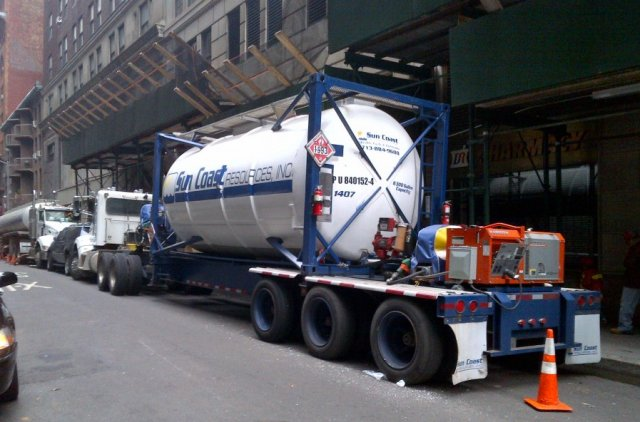 This fuel truck helped InterNap keep servers running during a Hurricane Sandy power outage.