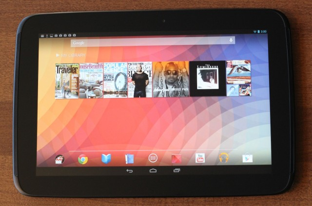 Google and Samsung's Nexus 10.