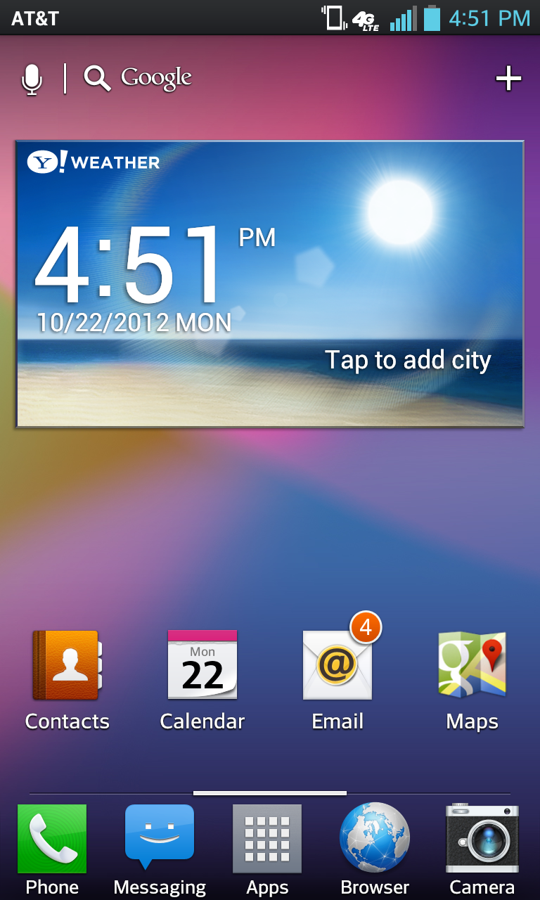 One of the better-looking Android UIs we've seen yet.
