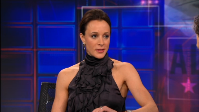 Paula Broadwell was interviewed on <i>The Daily Show</i> on January 25, 2012.