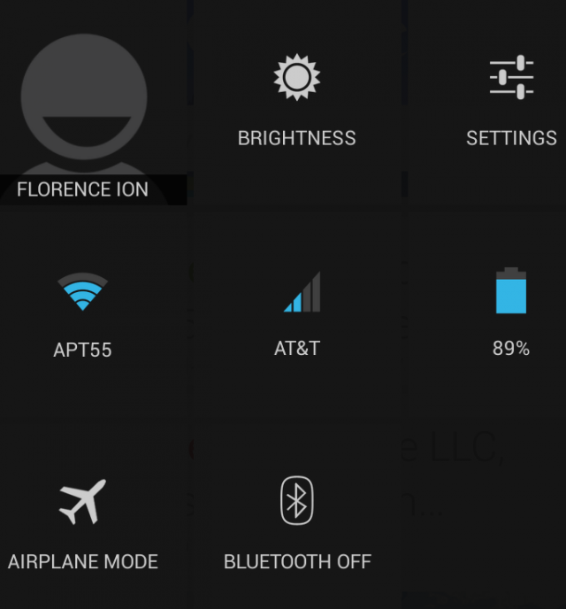 My name is Florence Ion and these are my Quick Settings options. Any questions?