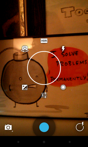 Android 4.2's new Camera interface, folks!