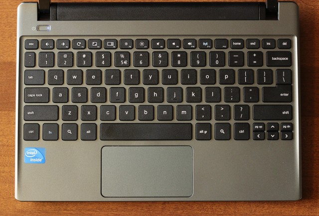 The keyboard (mediocre at best) and trackpad (wonderfully unremarkable).