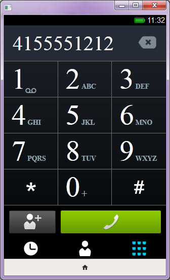 A quick look at the dialer.