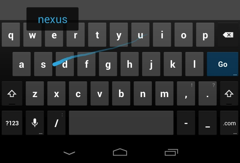 Swype-like gesture tying is now incorporated into the Jelly Bean keyboard by default.